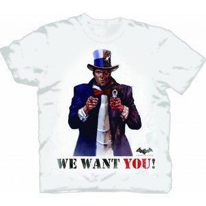Batman Arkham City Two-Face Wants You T-Shirt X-Large