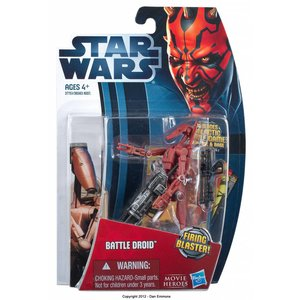 Star Wars Movie Heroes Battle Droid Red