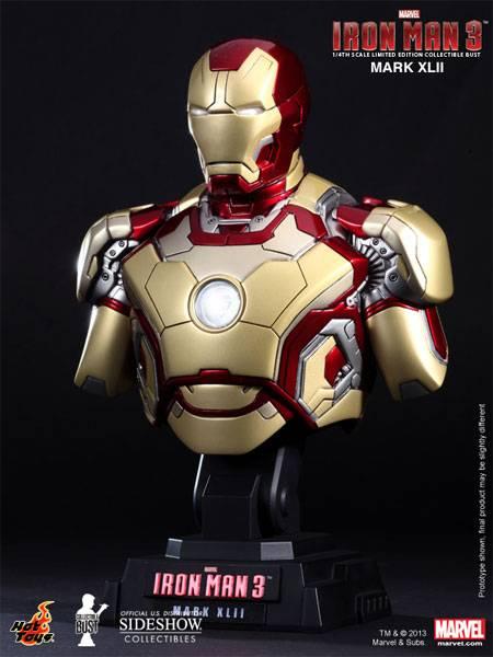 Iron man 3 bust 1/4 iron man mark xlii