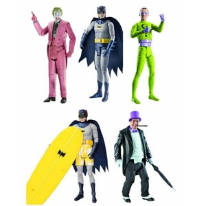 Batman Classic 1966 TV Series Complete Set of 5 Figures