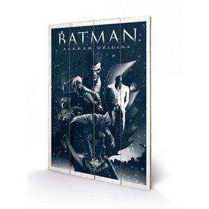 Batman Arkham Origins Wooden Wall Art Montage 46 x 77 cm