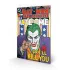 DC Comics Wooden Wall Art The Joker - Vote For Me