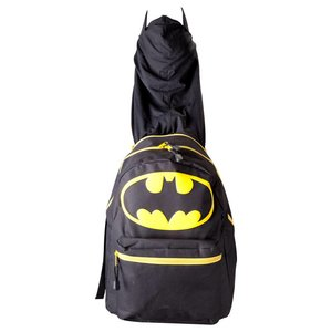 Batman Hooded Backpack Yellow Logo