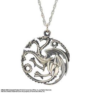 Game of Thrones Pendant & Necklace Targaryen Sigil (Sterling Silver)