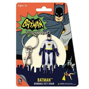 Batman Classic 1966 TV Bendable Figure Keychain - Batman