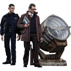 Batman Dark Knight Rises Movie Masterpiece Action Figures 1/6 John Blake & Jim Gordon with Bat-Signal