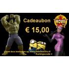 Cadeaubon € 15,00