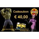 Cadeaubon € 40,00