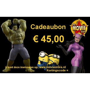 Cadeaubon € 45,00