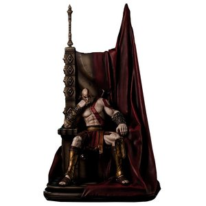 God of War Kratos Statue 1/4 auf Thron