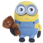 Minions Plüschfigur Bob mit Bär velvet