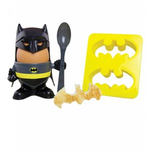 Batman Eierbecher und Toast Cutter