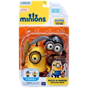Minions Movie Build-A-Minion Pirate / Cro-Minion Action Figure