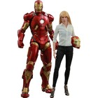Iron Man 3 Film-Meister Action Figur 2-Pack 1/6 Mark IX & Pepper Potts