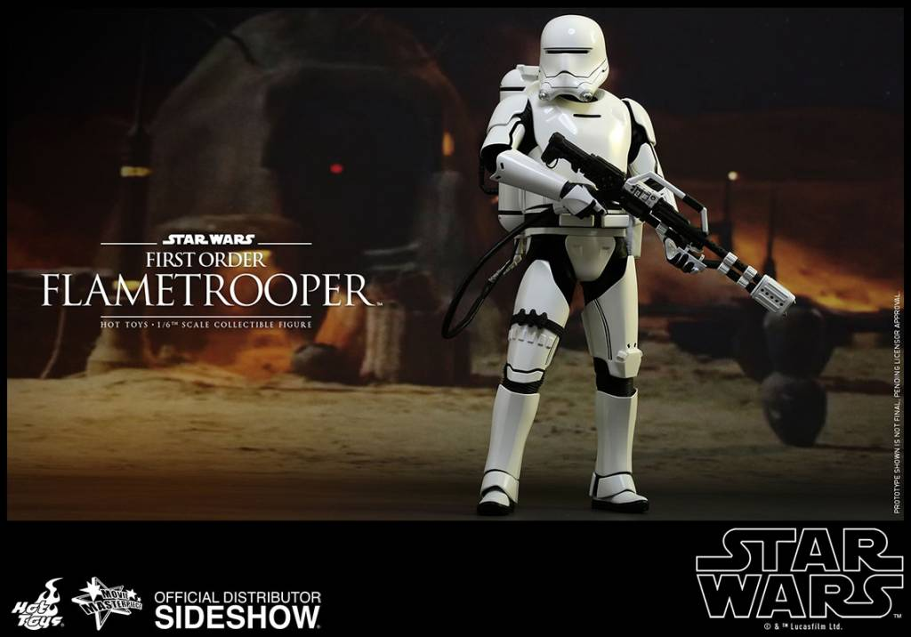 star wars episode vii movie masterpiece action figure 1 6 first order flametrooper 30 cm the. Black Bedroom Furniture Sets. Home Design Ideas