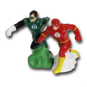 Green Lantern & Flash Salt & Pepper Shakers