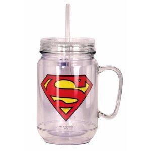 Superman Mason Jar