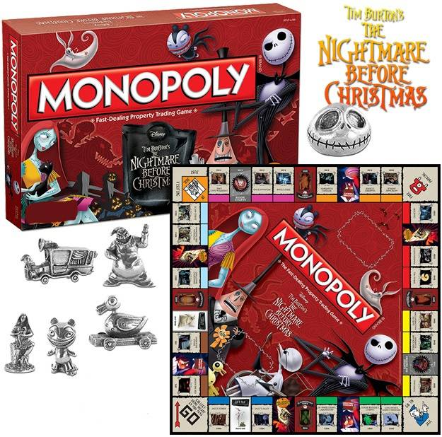 nightmare before christmas board game monopoly english version - Nightmare Before Christmas Board Game