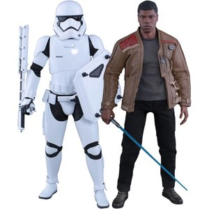 Star Wars: Episode VII MMS Action Figur 2-Pack 1/6 Finn & First Order Riot Control Stormtrooper