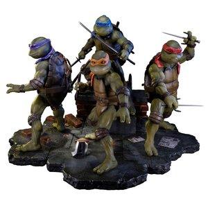 Teenage Mutant Ninja Turtles 1990 Statues Sideshow Exclusive Set (4)