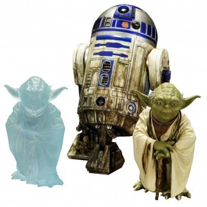 Star Wars Episode V ARTFX + Statue 2-Pack Yoda and R2-D2 Dagobah Version 10 cm