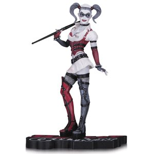 DC Comics Rot, White & Black Statue Arkham Asylum Harley Quinn 18 cm