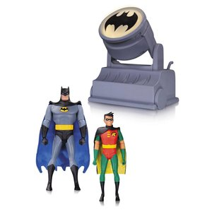 Batman The Animated Series Action Figure 2-Pack Batman & Robin with Bat-Signal 15 cm