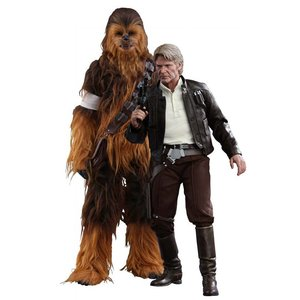 Star Wars Episode VII Movie Masterpiece Action Figure 2-Pack 1/6 Han Solo & Chewbacca
