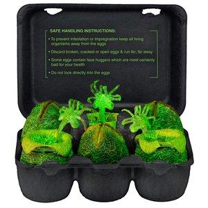 Alien Xenomorph Minifigures Glow in the Dark Egg Set 6cm