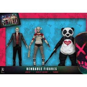 Suicide Squad Bendable Figures 3-Pack 14 cm