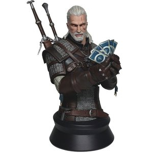 Witcher 3 Wild Hunt Büste Geralt Spielt Gwent 23 cm