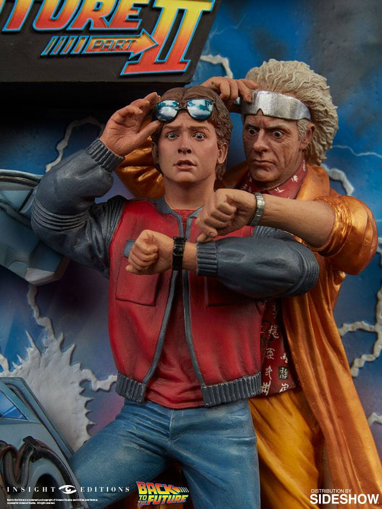 back to the future diorama sculpted movie poster