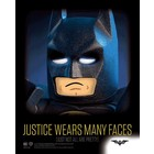 Lego Batman Framed 3D Effect Poster Justice Wears Many Faces 26 x 20 cm