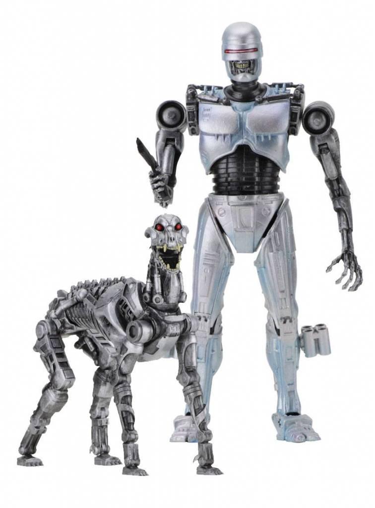 robocop vs the terminator action figure 2 pack endocop terminator dog 18 cm - fortnite af2