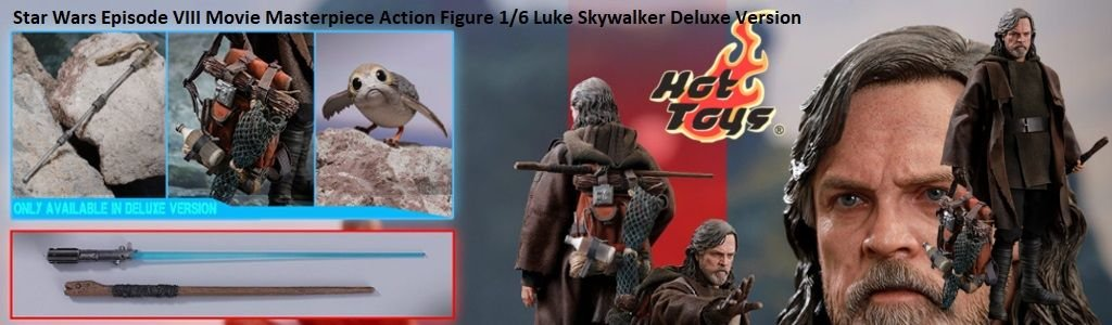 Star Wars Episode VIII Movie Masterpiece Action Figure 1/6 Luke Skywalker Deluxe Version