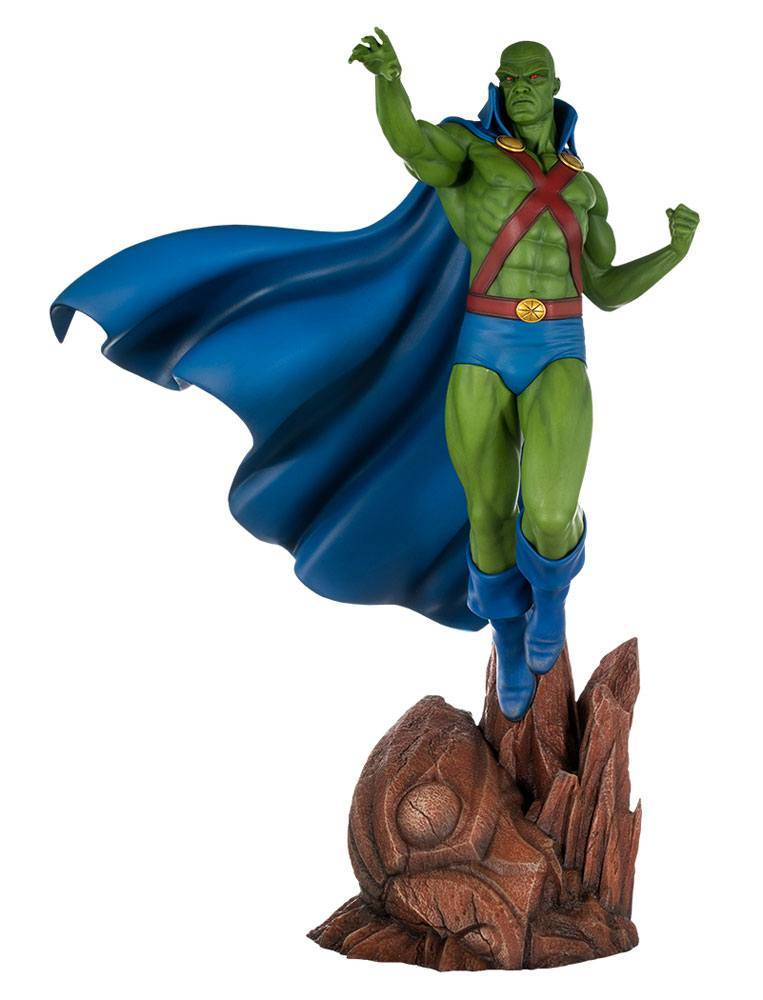 Dc comics super powers collection maquette martian for Maquette stand