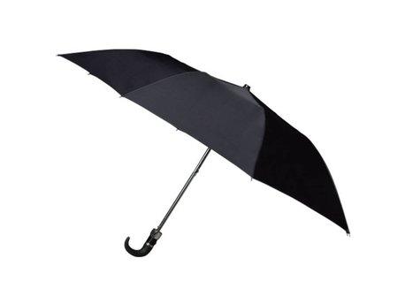 Opvouwbare paraplu, 2-delig, Zwart Automatisch Open