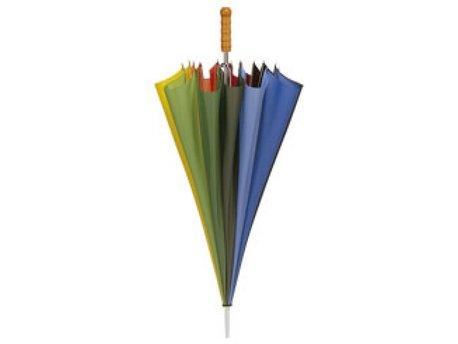Golf paraplu regenboogkleuren glasfiber stok