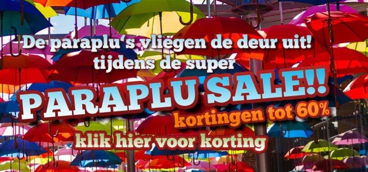 Grote uitverkoop bij Parapluwebshop.nl