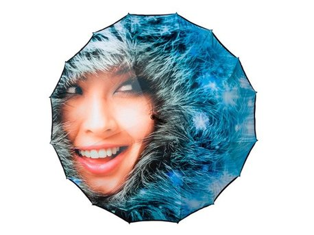 Grote paraplu full color print Falcone
