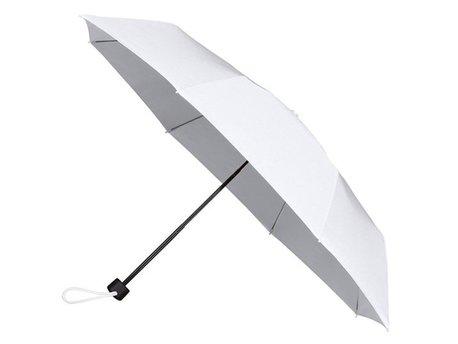 Opvouwbare paraplu, 3-delig, zwart metalen stok en frame, zwart kunststof handvat, met foedraal