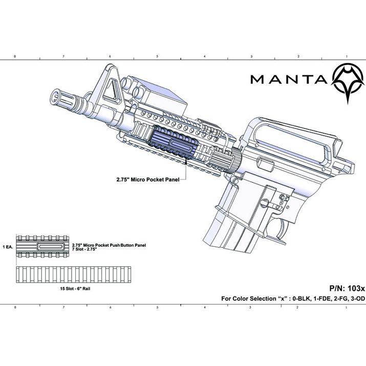 Manta Micro Pocket Switch Holder w/Button