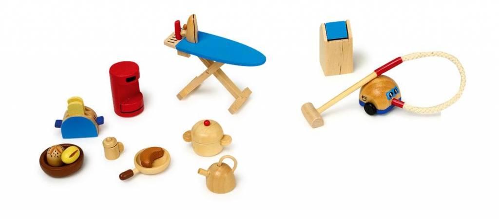 Keuken Accessoires Set : Goki Poppenhuis 19-delige set keuken accesoires – Kadoshop Rianne