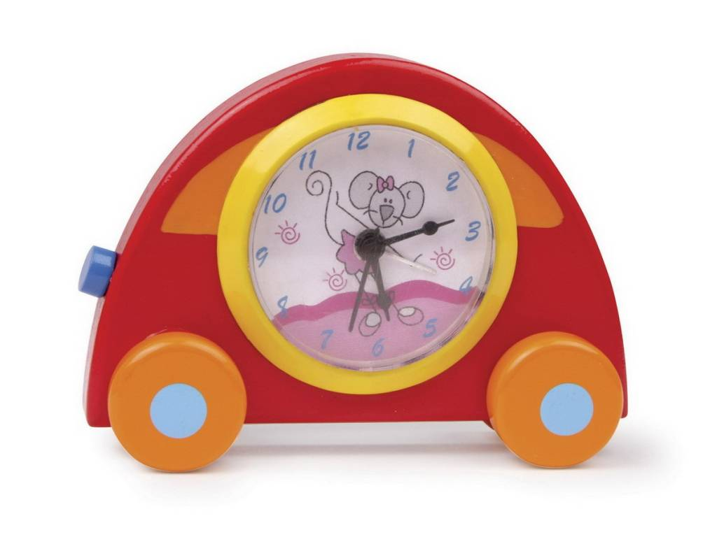 Houten Autoklok voor de kleine autoliefhebber - Kadoshop Rianne