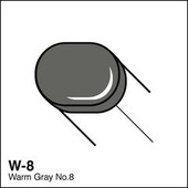 Copic Sketch marker W08 warm gray 8