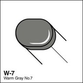 Copic Sketch marker W07 warm gray 7