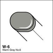 Copic Sketch marker W06 warm gray 6