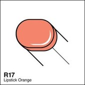 Copic Sketch marker R17 lipstick orange