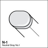 Copic Sketch marker N01 neutral gray 1