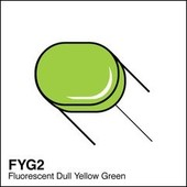 Copic Sketch marker FYG2 fluorescent dull yellow green